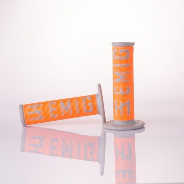 108-10-GY-OR Motorcycle Handlebars Emig Grips Orange