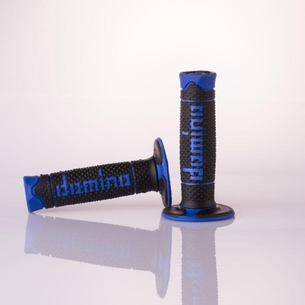 108-9-BK-BL Motorcycle Handlebars Domino Grips Blue