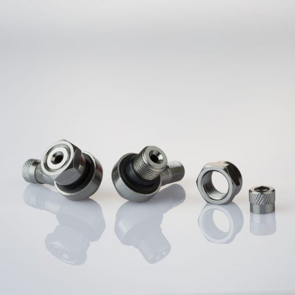 205-AL61 DARK SILVER Motorcycle Wheels Tyre Valves 11.3mm Dark Silver