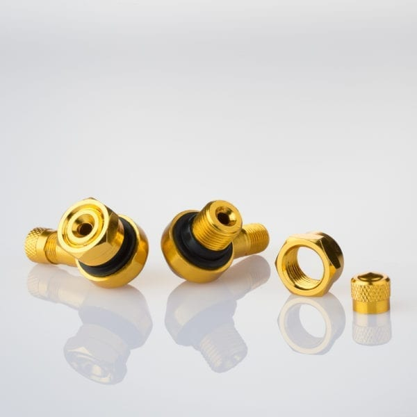 205-AL61 GOLD Motorcycle Wheels Tyre Valves 11.3mm Gold