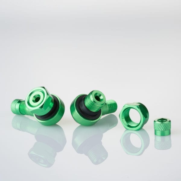 205-AL61 GREEN Motorcycle Wheels Tyre Valves 11.3mm Green